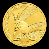 1 oz 2007 Australian Kangaroo Gold Nugget Coin