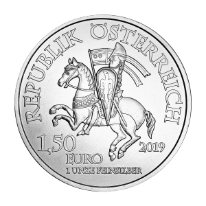 Wiener Neustadt | Moneda de plata del 825° Aniversario de la Casa de la Moneda Austríaca 2019 de 1 onza