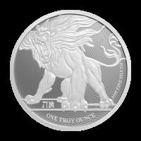 1 oz Silbermünze - Brüllender Löwe Niue 2019