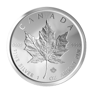 1 oz 2019 Canadian Maple Leaf Double Incuse Silver Coin
