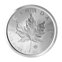 1 oz 2019 Canada Maple Leaf Double Incuse Sølvmynt