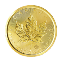 1 oz Goldmünze - kanadisches Ahornblatt - doppelt eingeprägt - 2019