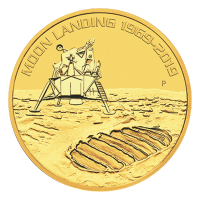 1 oz 2019 Perth Mint 50th Anniversary of the Moon Landing Gold Coin