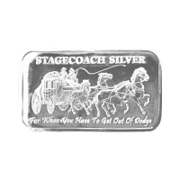 1 oz Stagecoach Breaker Silver Bar