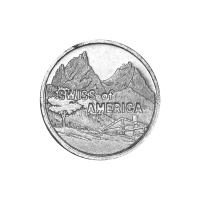 1 oz Silbermedaille Amerikas Schweiz