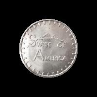 1 oz Silbermedaille Amerikas Schweiz 1973