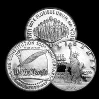 $1 Silberdollar U.S. Gedenkmünze Zufallsjahr