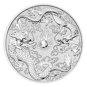 1 oz 2019 Perth Mint Double Dragon Silver Coin