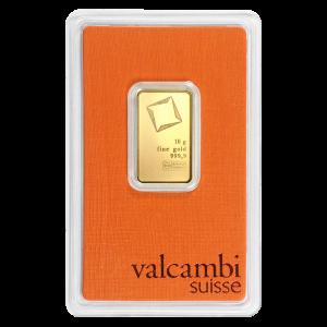 Lingot d'or Valcambi de 10 grammes