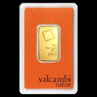 Lingot d'or Valcambi de 20 grammes