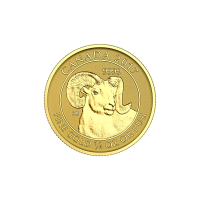 1/4 oz 2017 Canadian Big Horn Sheep Gold Coin