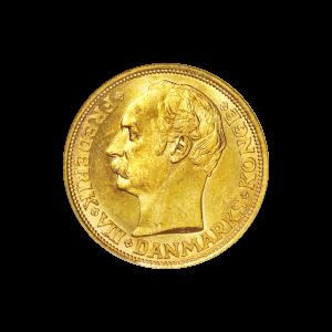 Pièce d'or 20 couronnes danoises d'année aléatoire