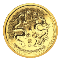 Pièce d'or Double dragon de Niue 2018 de 1 once