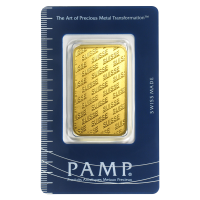 1 oz PAMP Suisse New Style Gold Bar
