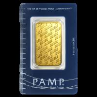 Barra de oro nuevo estilo PAMP Suisse de 1 oz