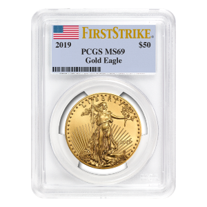 1 oz 2019 American Eagle PCGS First Strike MS 69 Gold Coin