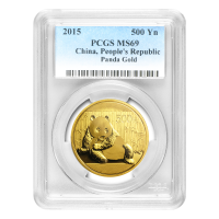 1 oz 2015 Chinese Panda PCGS MS 69 Gold Coin
