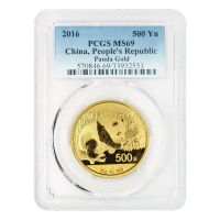 30 gram 2016 Chinese Panda PCGS MS 69 Gold Coin