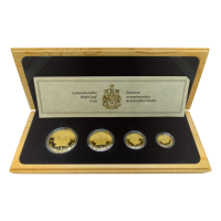 Set of 4 x 10th Anniversary 1989 Canadian Maple Leaf Proof Gold Coins
