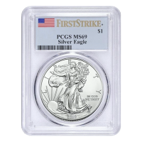 1 oz Random Year PCGS MS-69 American Eagle Silver Coin