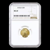 1/10 oz Random Year American Eagle MS 69 Gold Coin