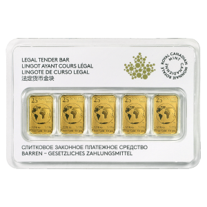1/2 oz (5 x 1/10 oz) Random Year Legal RCM Tender Gold Bar