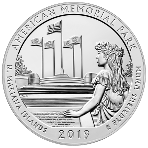 5 oz 2019 America the Beautiful | Marianas Memorial Park Silver Coin