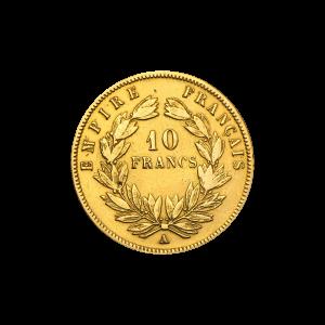 Pièce d'or 10 francs Napoléon III d'année aléatoire