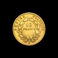 Random Year Napoleon III 10 Franc French Gold Coin