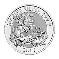 1 oz 2019 Royal Mint Valiant Silver Coin
