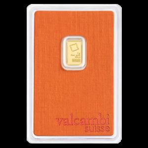 Lingot d'or Valcambi de 1 gramme