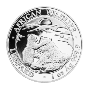 1 oz 2019 Somalian African Leopard Silver Coin