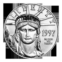 1 oz Platinmünze amerikanischer Adler 1997