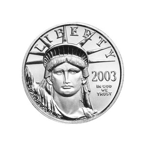 1/4 oz 2003 American Eagle Platinum Coin