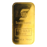 1 oz Engelhard Maple Logo Scotiabank Gold Bar