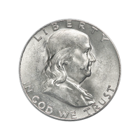 Random Year Franklin-P Half Dollar 90% Pure Silver Coin