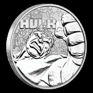 1 oz Silbermünze Hulk 2019