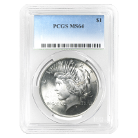 Random Year Peace Silver Dollar MS-64 Silver Coin