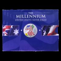 1 oz farbige Silbermünze amerikanischer Adler 2000