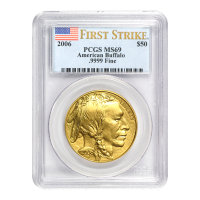 1 oz 2006 Buffalo First Strike MS 69 Gold Coin