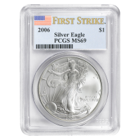 1 oz 2006 American Eagle First Strike MS 69 Silver Coin