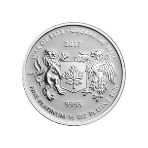 1/2 oz 2017 RCM War of 1812 Platinum Coin