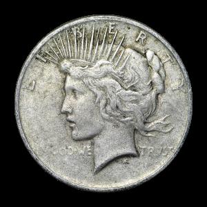 Random Year Peace Silver Dollar Average Circulation Silver Coin