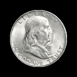 Random Year Franklin Half Dollar 90% Pure Circulation Silver Coin
