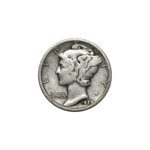 $0.10 Face Value U.S. Mercury Dime 90% Pure Circulation Silver Coin