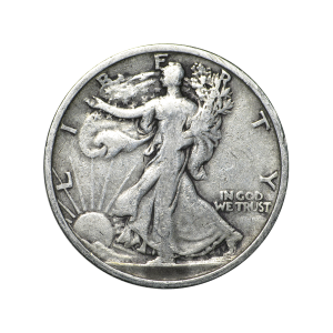 Random Year Walking Liberty Half Dollar 90% Pure Circulation Silver Coin