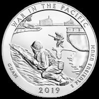 5 oz Silbermünze - Wunderschönes Amerika | Krieg im Pazifik - Guam 2019
