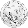 5 oz 2019 America the Beautiful | War in the Pacific - Guam Silver Coin