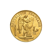 Random Year 20 Franc Lucky Angel AU Gold Coin