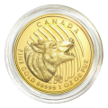1 oz 2014 Call of the Wild Series | Howling Wolf Gold Coin (In Capsule Only)